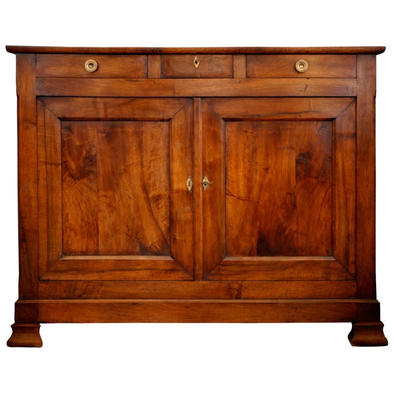 Gorgeous french restoration solid walnut buffet at stdibs