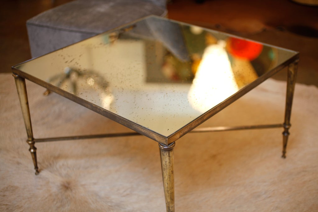 Https Www 1stdibs Com Furniture Tables Coffee Tables Cocktail Tables Vintage Square Brass Mirror Coffee Table Id F 619398