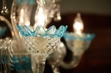 Celestial Blue and Crystal Murano Glass Chandelier image 7