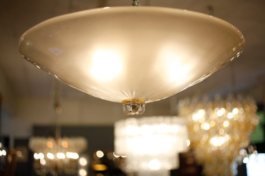italian murano glass ceiling fixture at 1stdibs. Black Bedroom Furniture Sets. Home Design Ideas