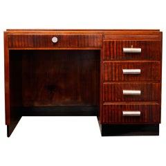 "French Art Deco ""Satine"" Mahogany Desk"