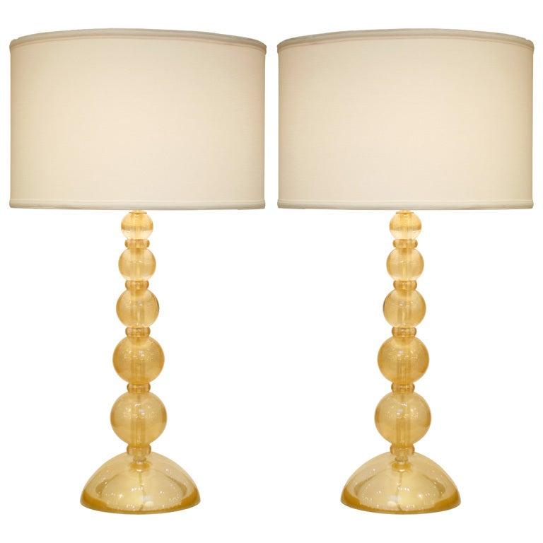 Pair of Gold Murano