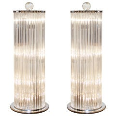Amazing Pair of Murano Glass Floor Lamps