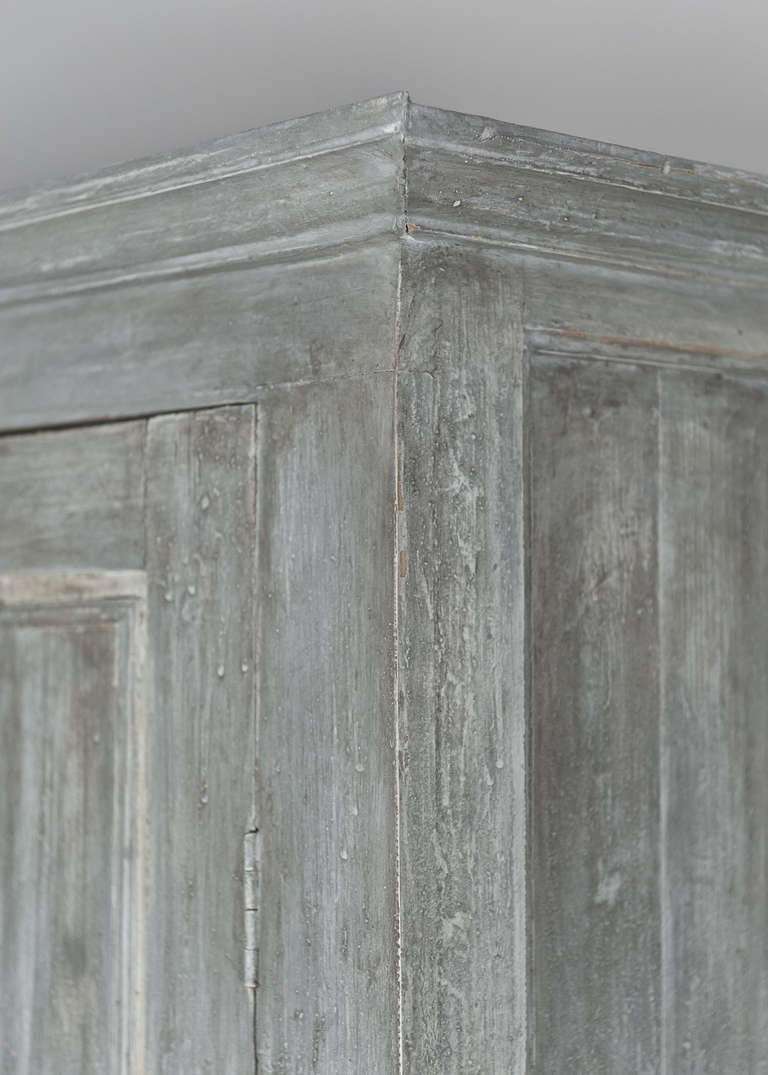 Antique 19th Century Portuguese Blue Patined Armoire 5