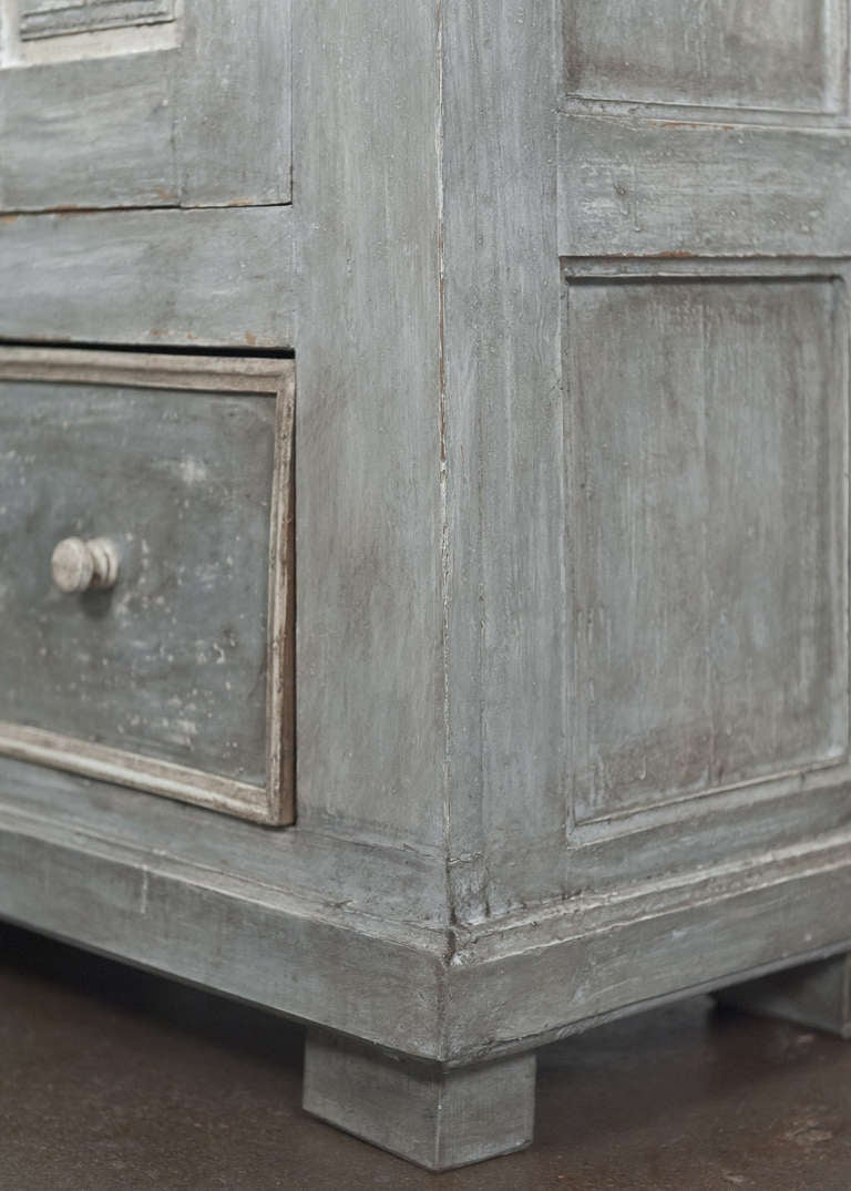 Antique 19th Century Portuguese Blue Patined Armoire 10