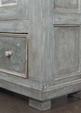 Antique 19th Century Portuguese Blue Patined Armoire image 10