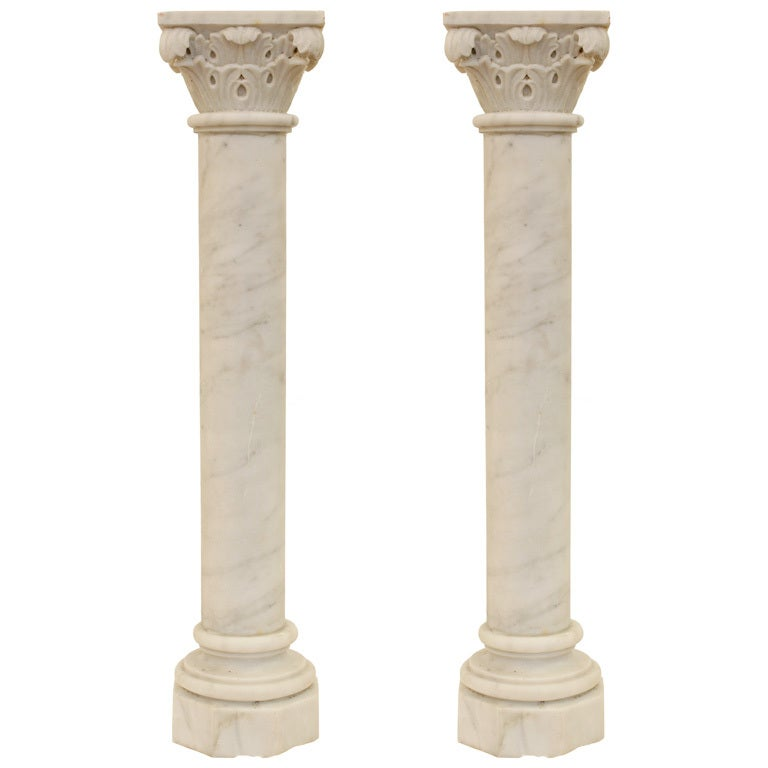 Construcion Stone Column : French antique marble columns from chapel at stdibs
