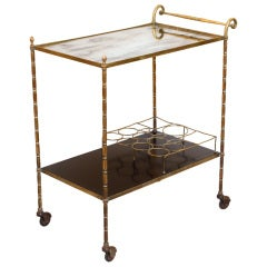 Maison Bagues Brass Bar Cart