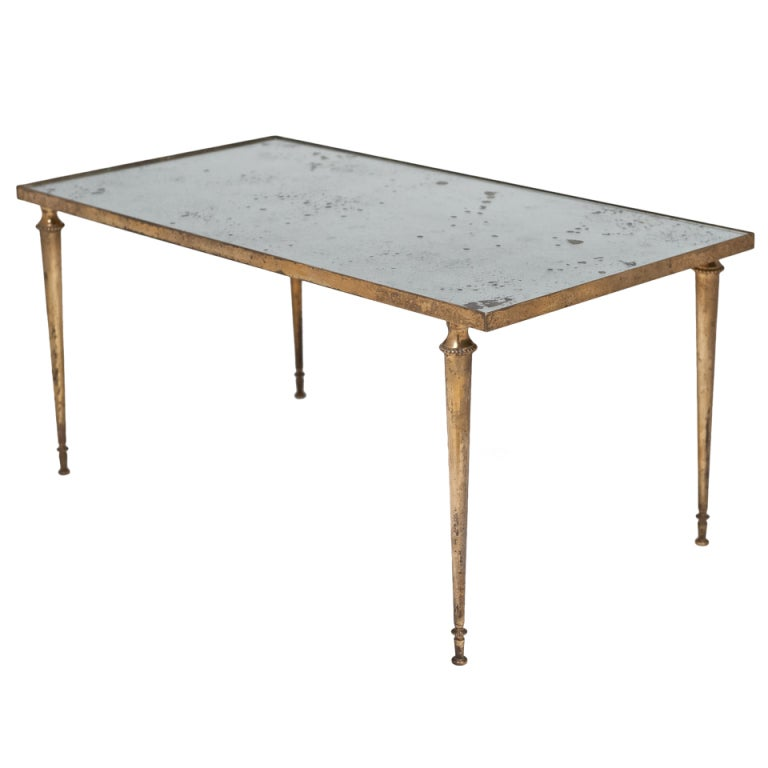 French Bagues Style Brass Coffee Table At 1stdibs