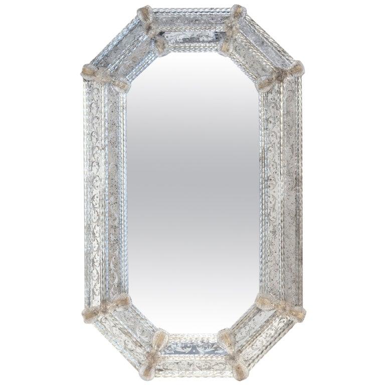 Venetian Glass Mirror at 1stdibs