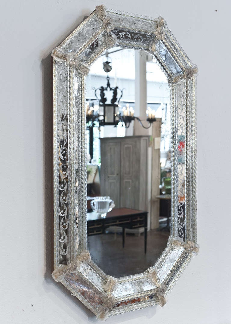 Venetian Glass Mirror At 1stdibs