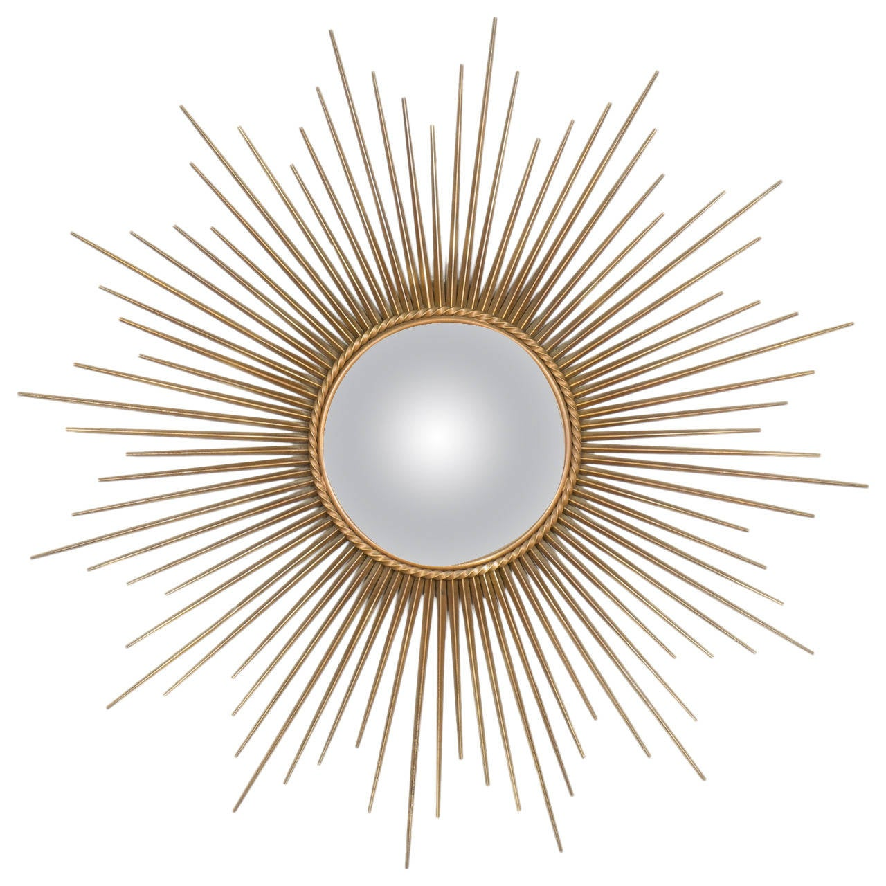 French vintage sunburst mirror by maison chaty at 1stdibs for Sunburst mirror
