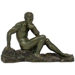 Vintage Bronze Sculpture Signed by Ouline