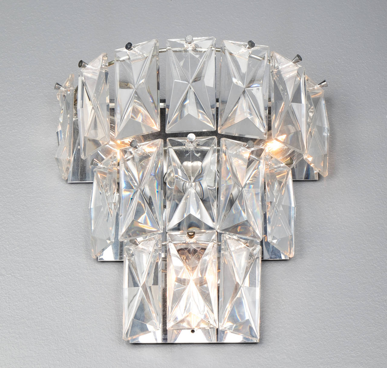 Wall Sconces Crystal : Baccarat Crystal Wall Sconce at 1stdibs