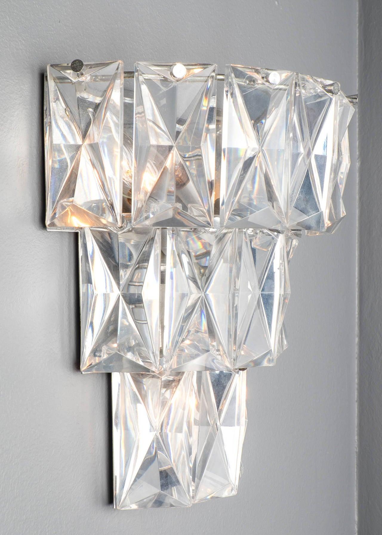 Baccarat Crystal Wall Sconce at 1stdibs