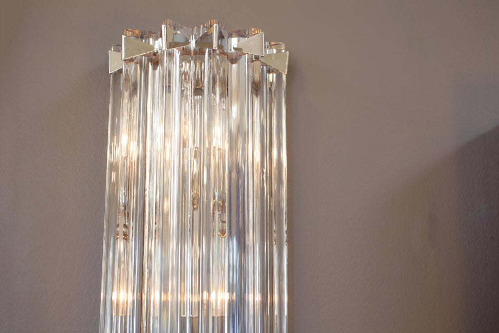 Pair of Murano Glass Wall Sconces by Venini at 1stdibs