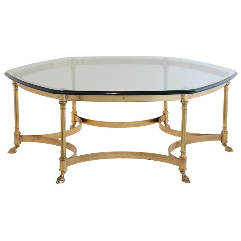 French Gilt Brass Coffee Table At 1stdibs