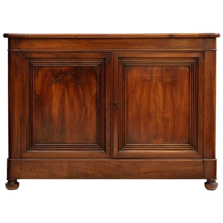 Solid Walnut Buffet ~ French th century solid walnut buffet at stdibs