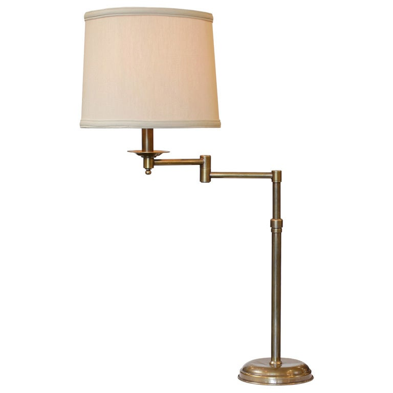 brass swing arm table lamp at 1stdibs. Black Bedroom Furniture Sets. Home Design Ideas