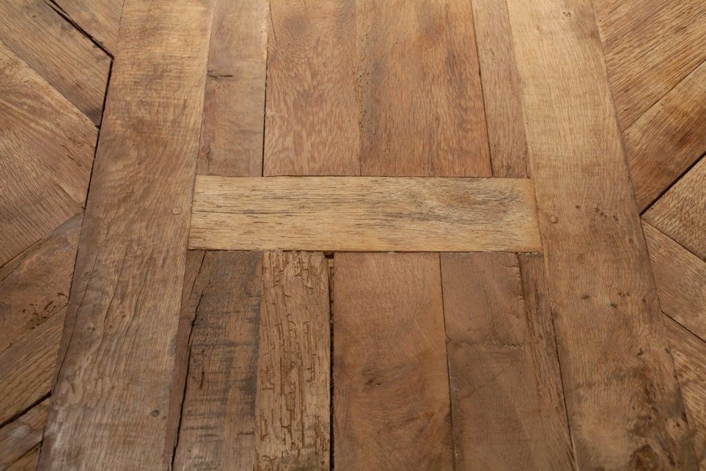 Antique Solid Oak Quot Versailles Quot Parquet Top Farm Table At