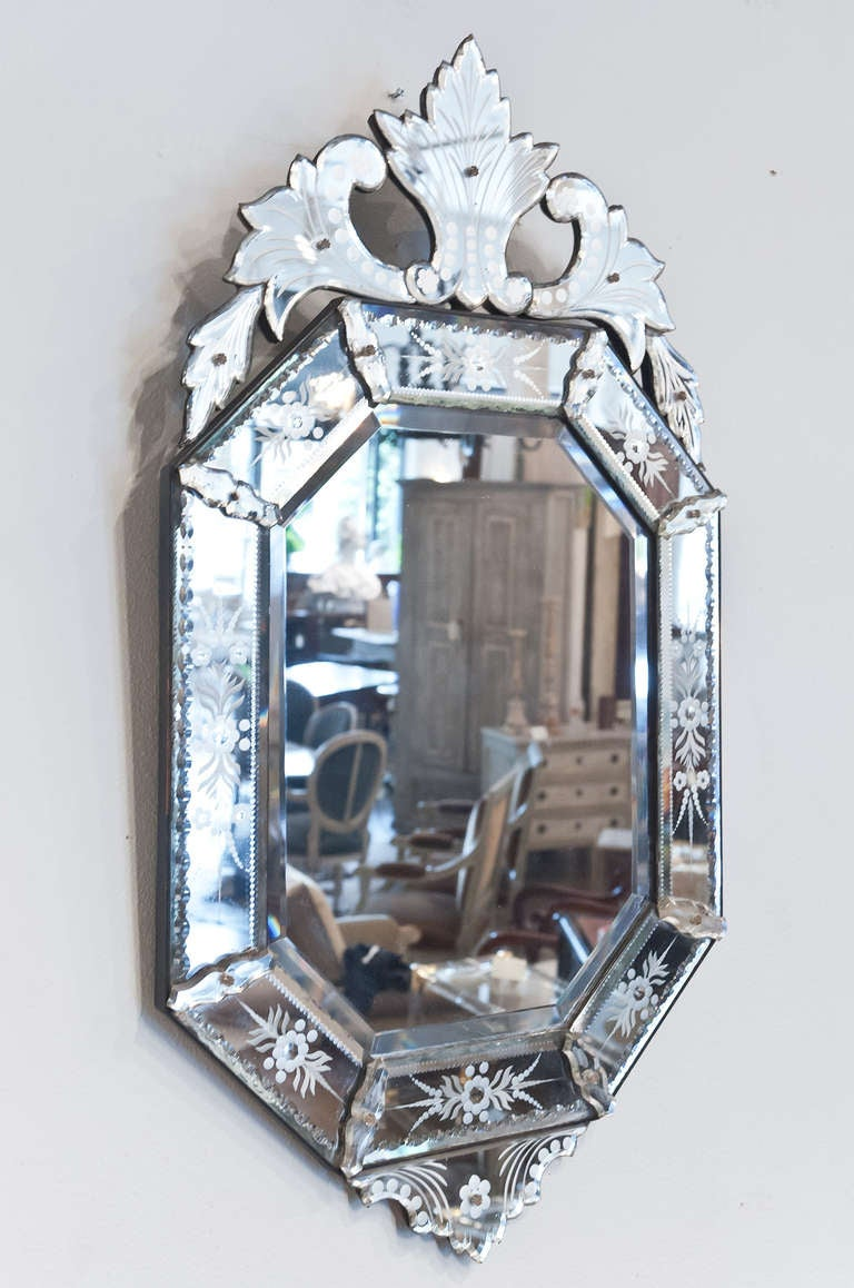 Antique venetian glass mirror at 1stdibs for Glass mirrors for walls