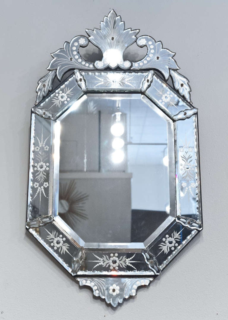 Antique Venetian Glass Mirror At 1stdibs