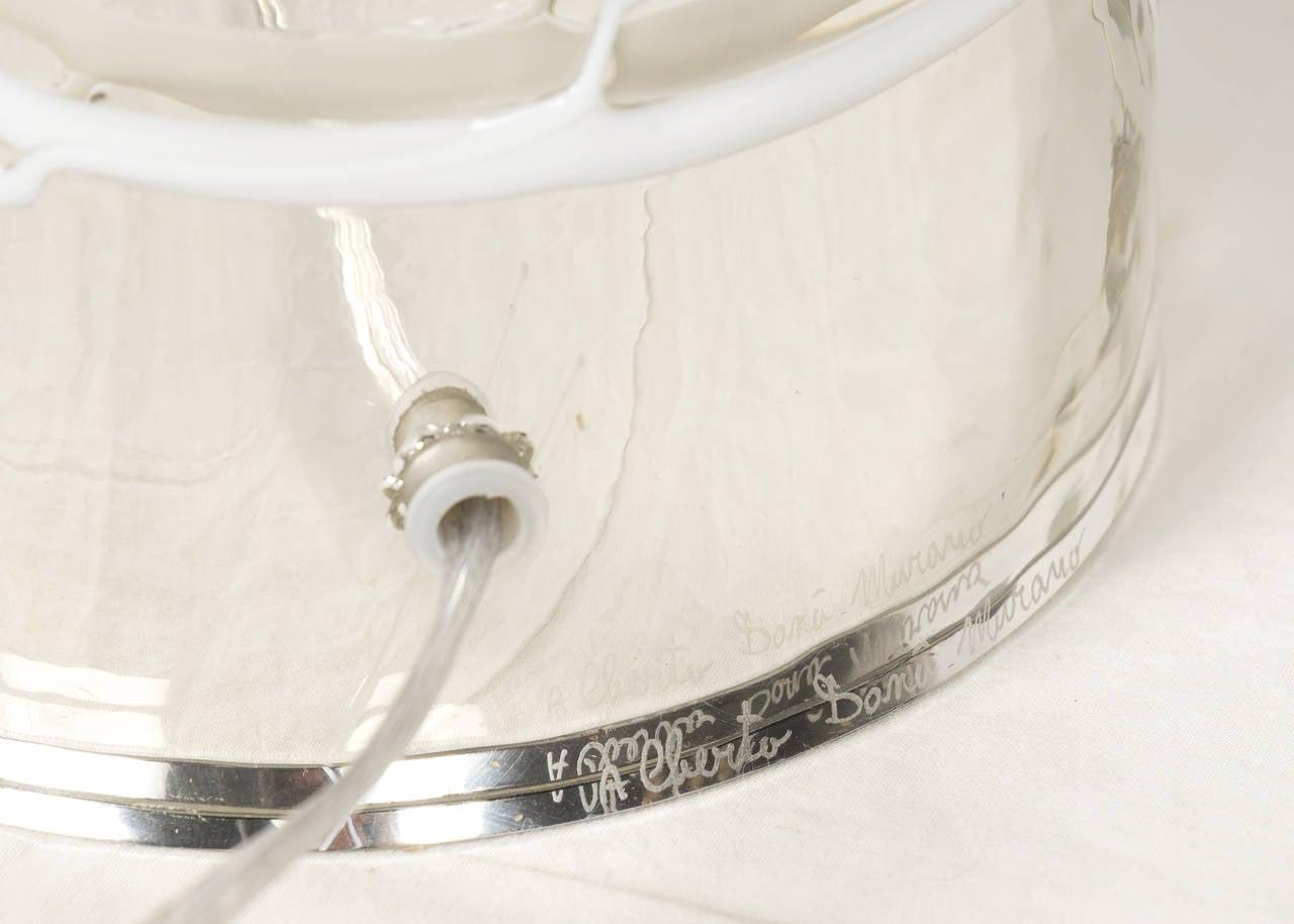 Pair of Murano Mercury Glass Lamps 3