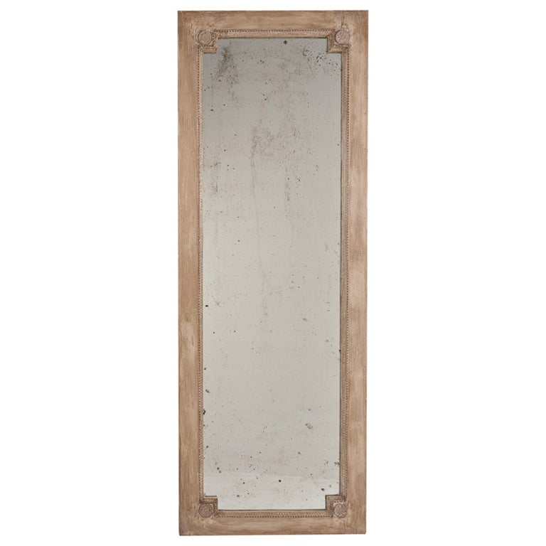 Hand painted full length mirror at 1stdibs for Full wall mirrors