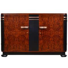 French Art Deco Burled Elm Buffet