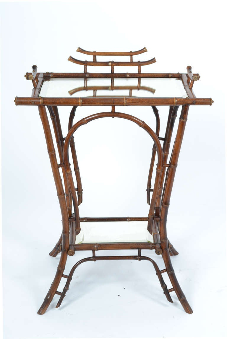 English bamboo side table at 1stdibs for Bamboo side table