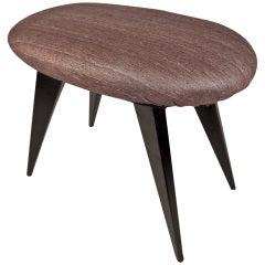 French Art Deco Upholstered Stool