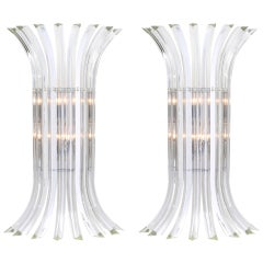 """Curve"" Murano Glass Sconces in the Style of Venini"