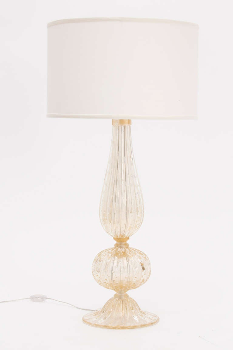pair of murano pulegoso glass lamps for sale at 1stdibs. Black Bedroom Furniture Sets. Home Design Ideas