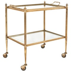 Vintage Brass & Eglomized Glass Tray Table