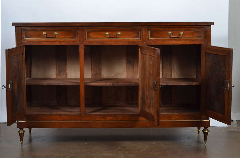 french antique louis xvi walnut buffet enfilade at 1stdibs. Black Bedroom Furniture Sets. Home Design Ideas