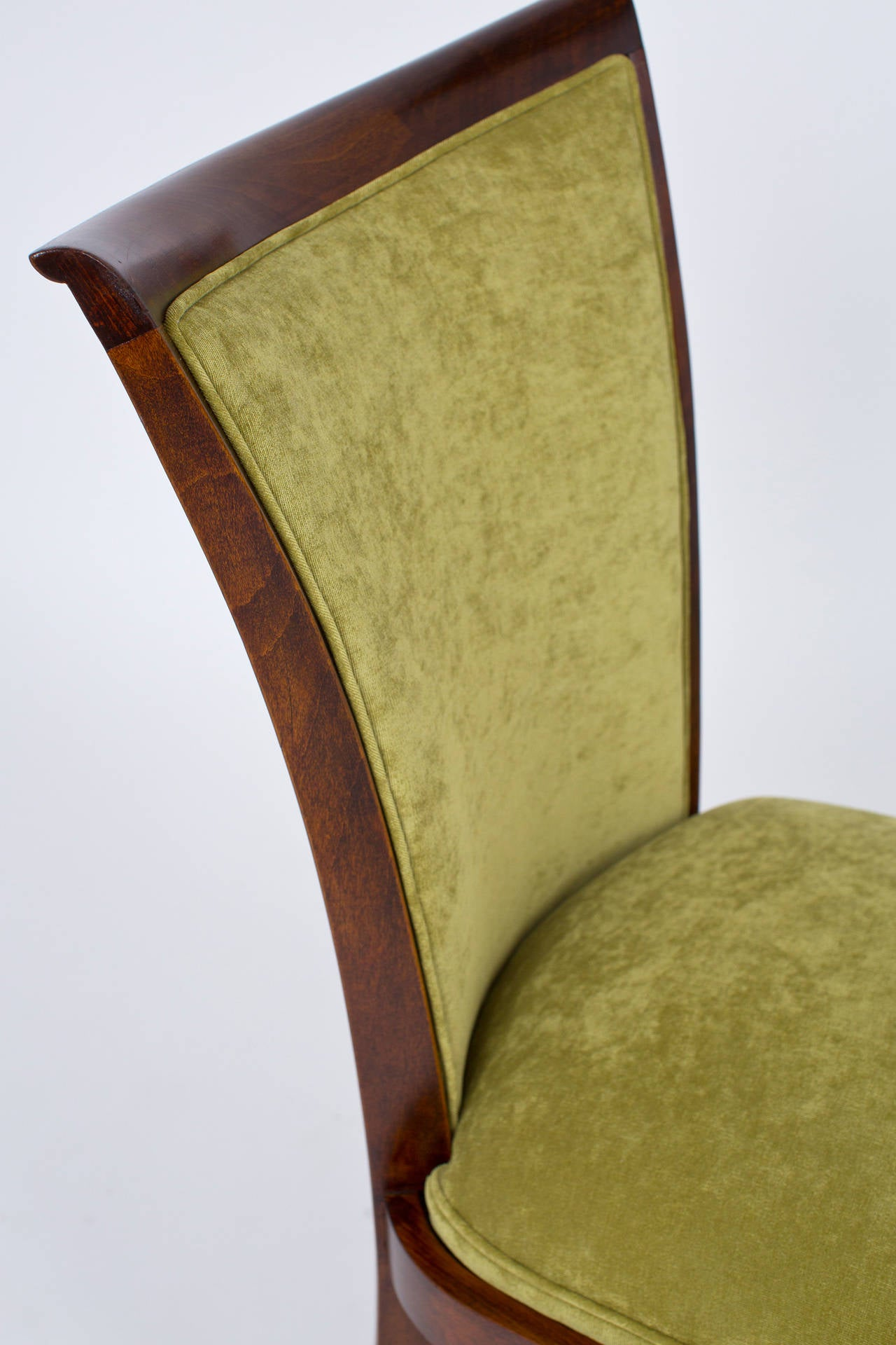 Art deco period set of six dining chairs at 1stdibs for Art deco period