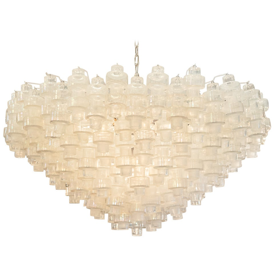 Spectacular Murano Blown Glass Manubri Chandelier