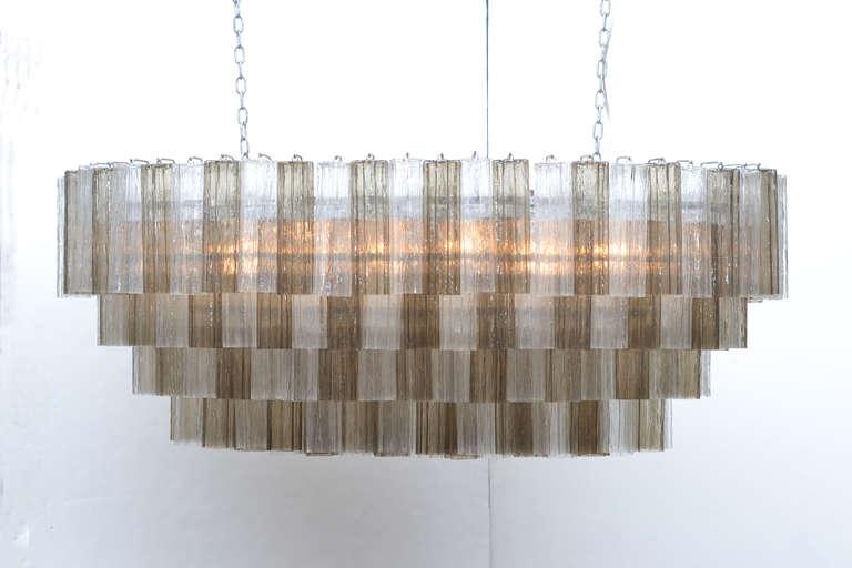 Italian Mid-Century Modern Style Murano Glass Chandelier For Sale