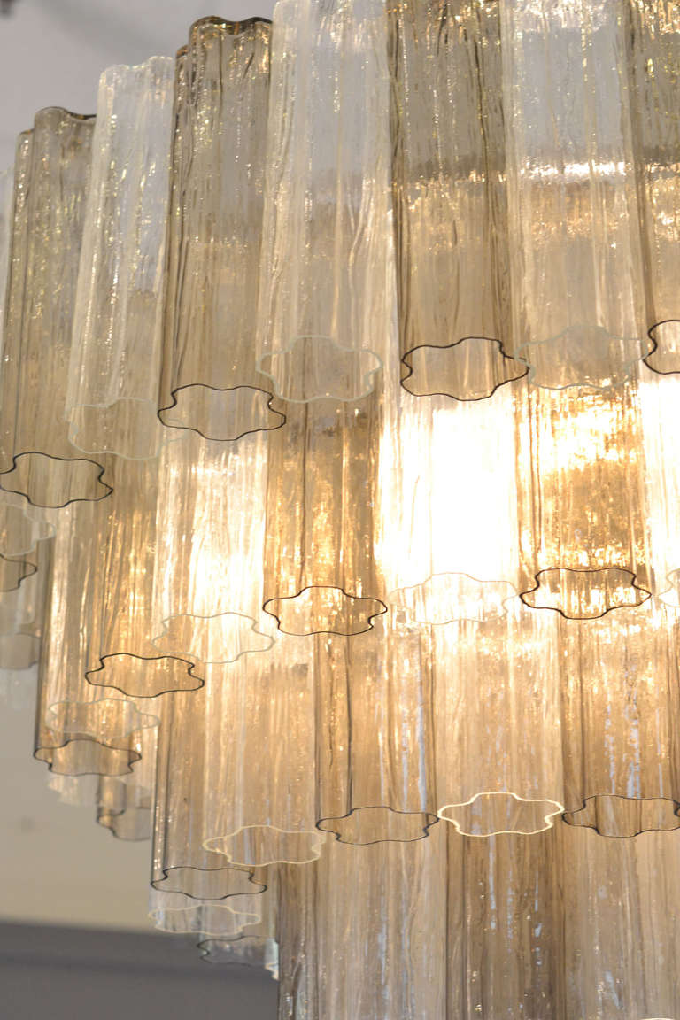 Contemporary Mid-Century Modern Style Murano Glass Chandelier For Sale