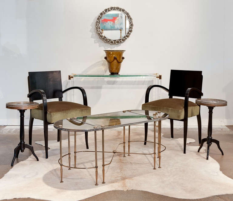 Maison Bagues Brass Coffee Table Set At 1stdibs