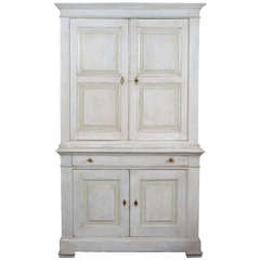 French Antique Louis Xvi Buffet With Carrara Marble Top At