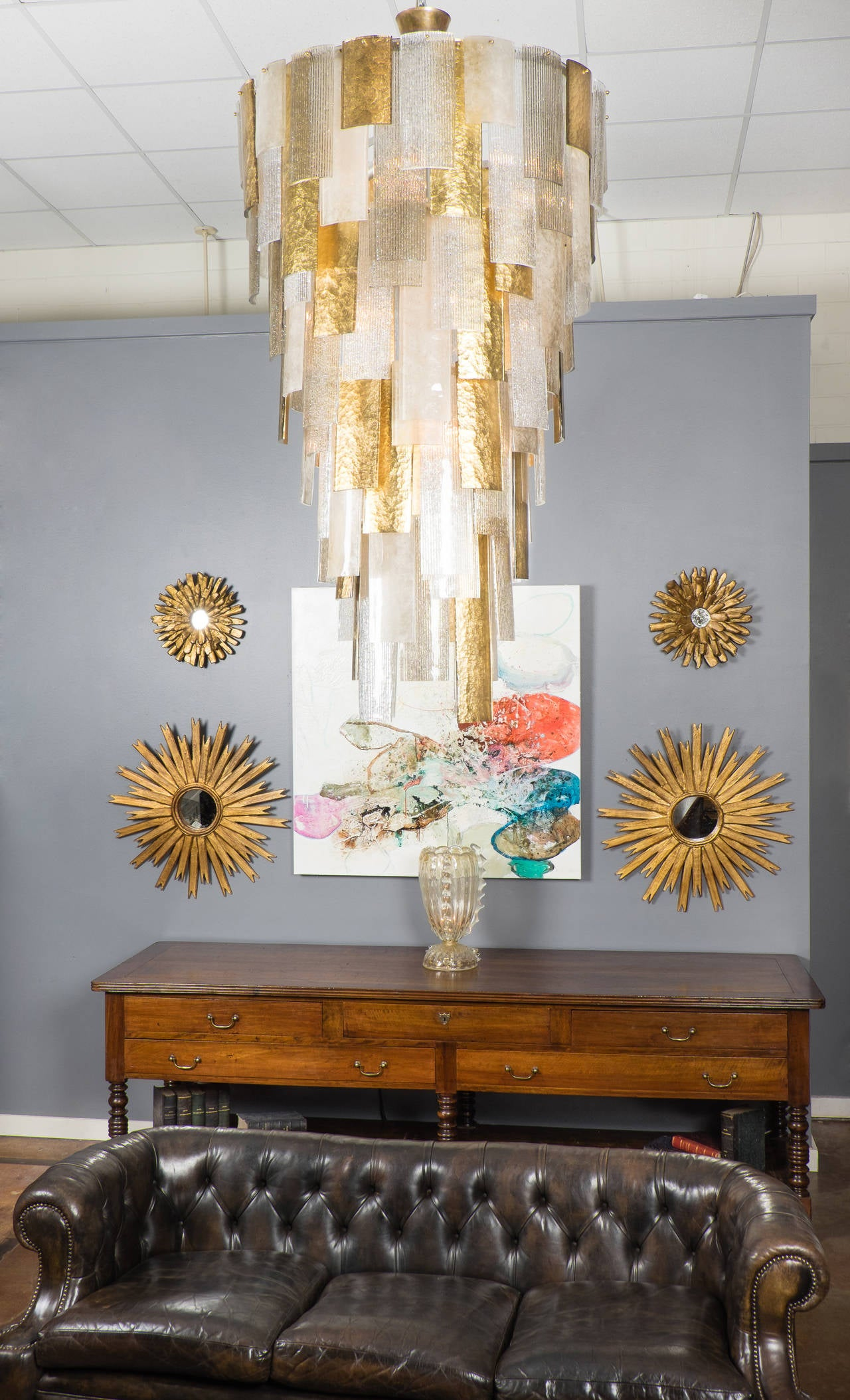 Cascading Chandelier in Murano Glass For Sale at 1stdibs