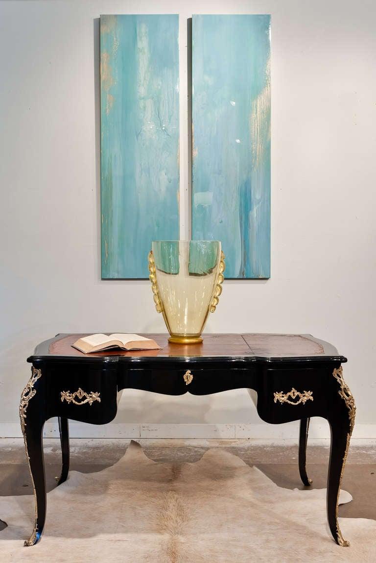 Italian Murano glass vase with