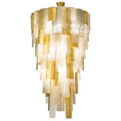 Cascading Chandelier in Murano Glass