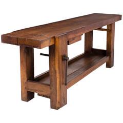 19th Century French Carpenter's Workbench
