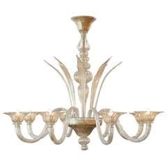 """Murano Glass """"Polvera d'Oro"""" Chandelier"""