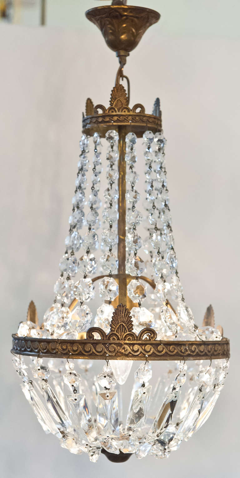 French Empire Style Crystal Chandelier At 1stdibs