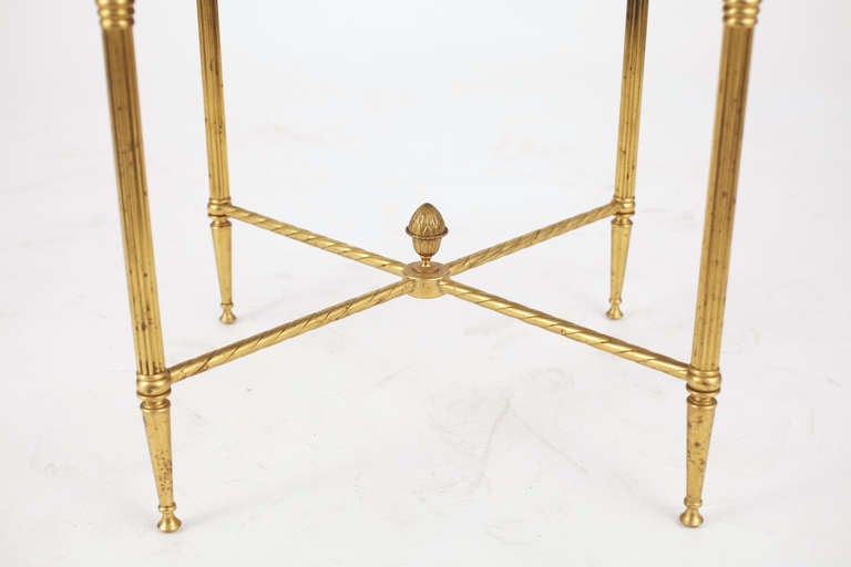 French Maison Bagues Pair of Gilt Brass Side Tables 4