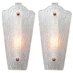 Vintage Murano Glass Sconces