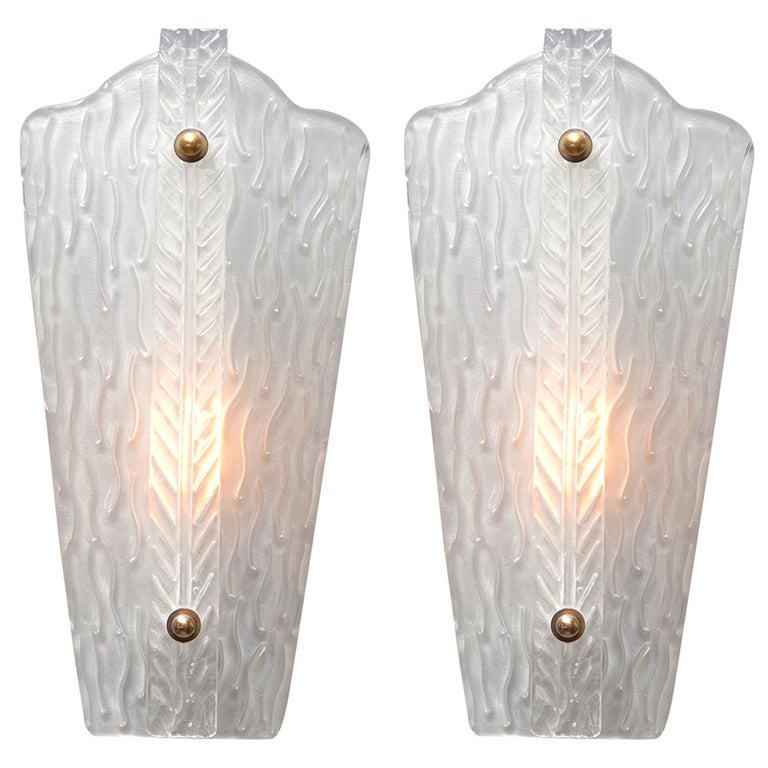Vintage Murano Glass Sconces For Sale